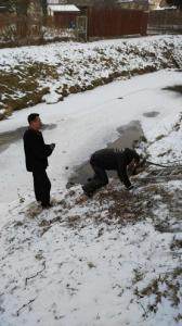 Čistene kanalizácie ul.Slovenska [03.01.2017]