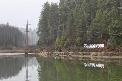Odstránenie stožiara vysokého napätia a úprava priepustu jazera Zahuru [04.08.2014]