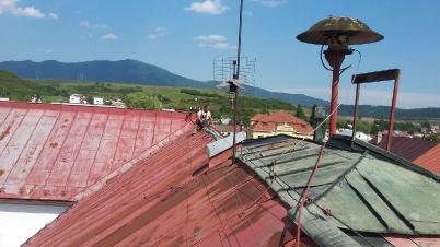 Oprava poškodenej krytiny budova MsÚ [20.08.2017]