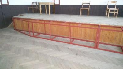 Spoločenská sála KD,rekonštrukcia pódia [03.11.2016]